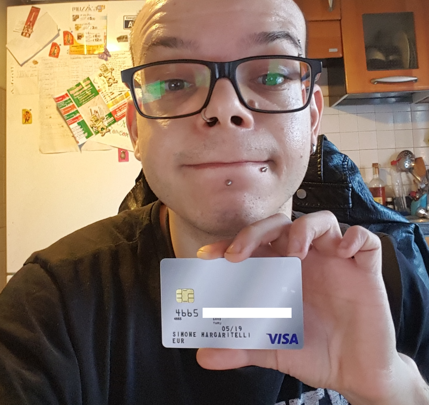 My BTC VISA debit card linked to CryptoPay
